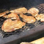 But these Texans didn't just feast on steak. They also grilled up some pork…