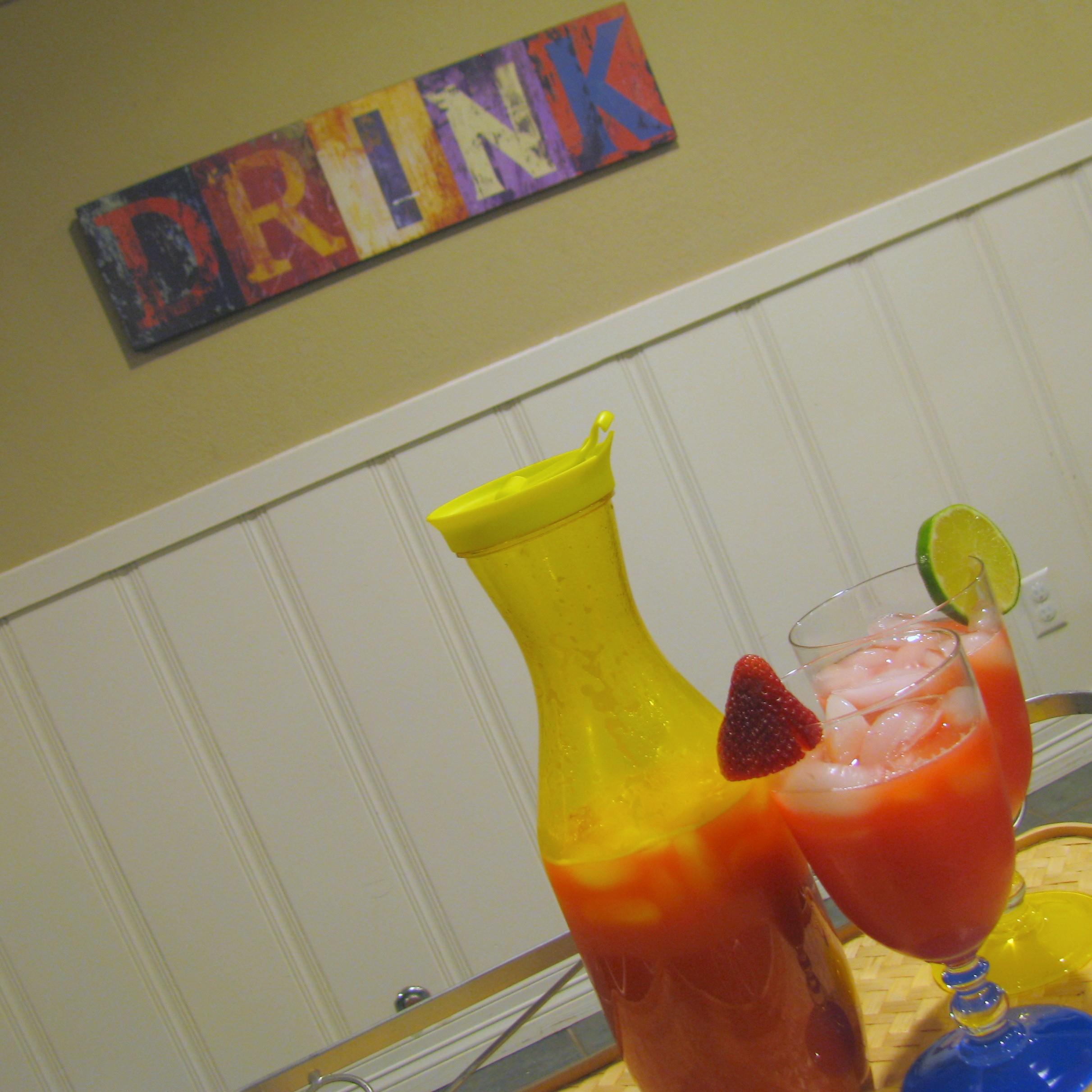 Sparkling Strawberry Agua Fresca