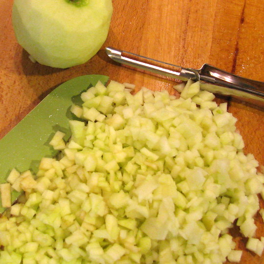 chopped apple