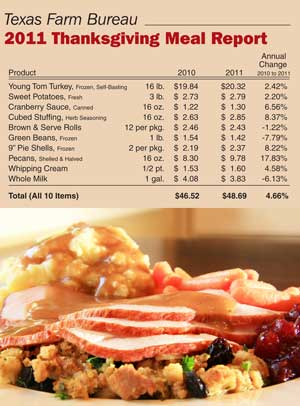 Grocery Price Watch: Thanksgiving 2011