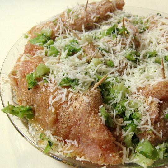 Chicken Cordon Bleu - prepped