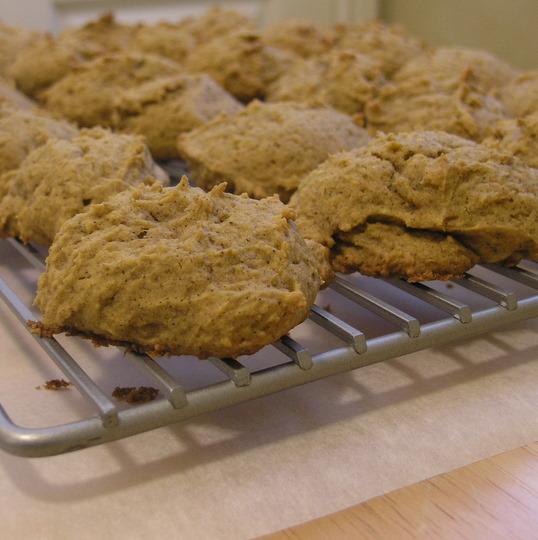 Iced Pumpkin Cookies - cookies cooling