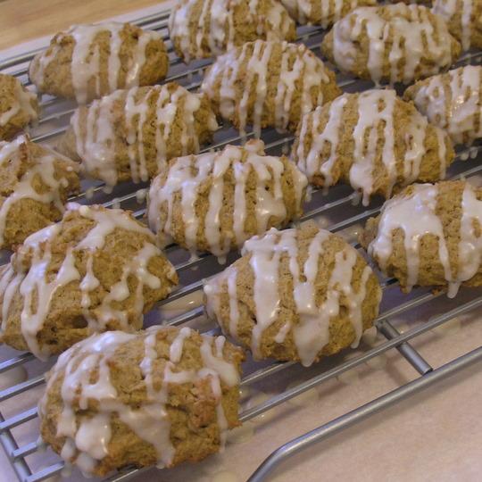 Iced Pumpkin Cookies - iced cookies