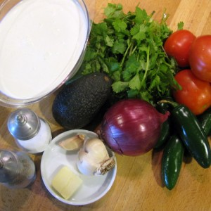 Jalapeno-Cilantro Soup - ingredients