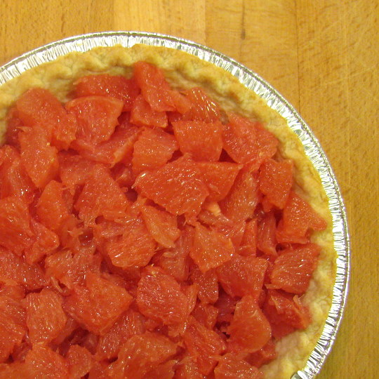 Grapefruit Pie - section filled