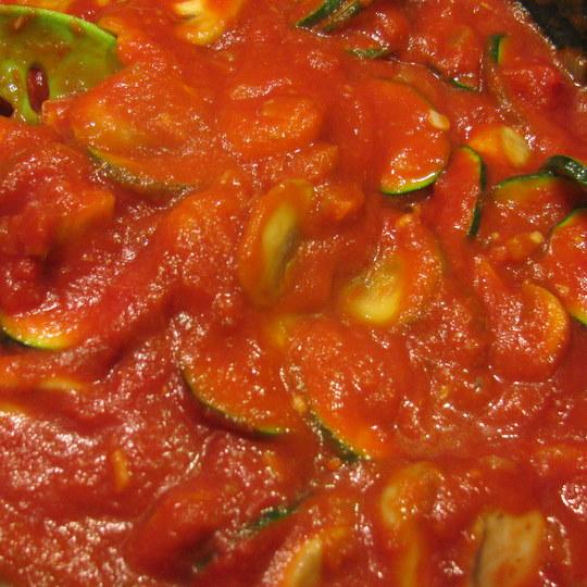 Veggie Lasagna - Veggies with Tomato Sauce