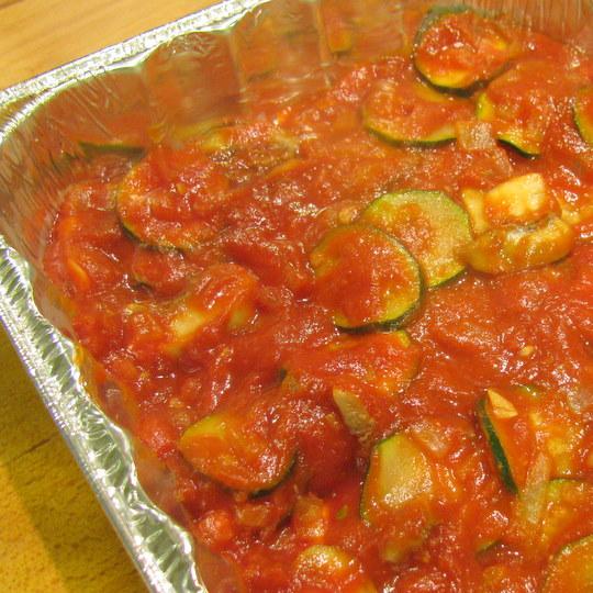 Veggie Lasagna - 1st layer