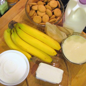 Banana Pudding - Ingredients