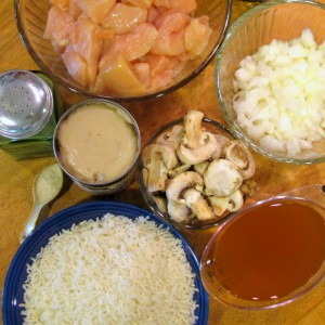 Skillet Chicken and Rice - Ingredients