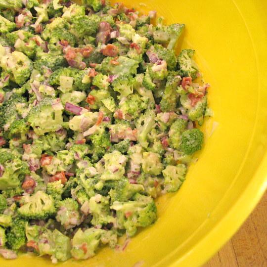 Broccoli Salad - Dressed