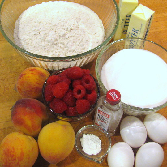 Peach Melba Pound Cake - Ingredients