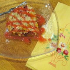 Peach Melba Pound Cake