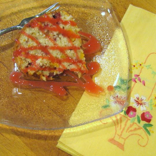 Peach Melba Pound Cake - final