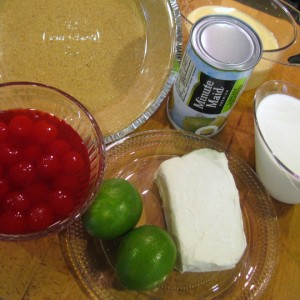 Cherry Limeade Ice Box Pie - Ingredients