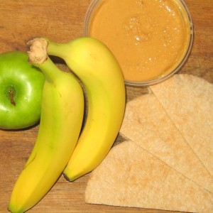 Peanut Butter Fruit Pitas