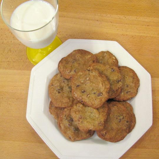 Pecan Chocolate Chip Cookies with Sea Salt