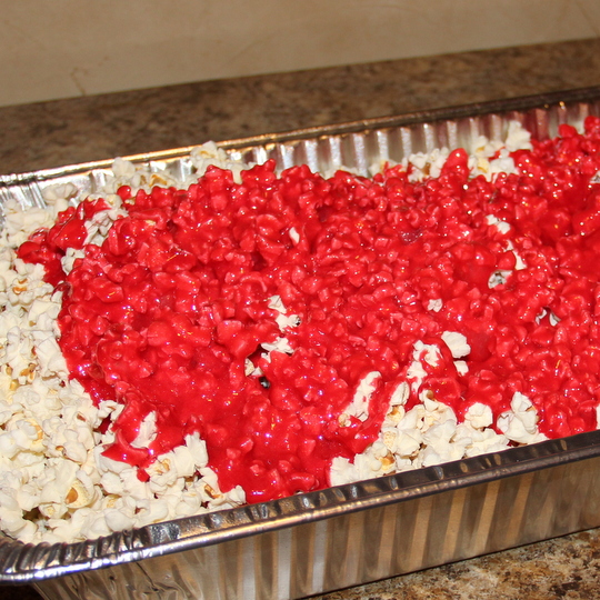 Coating the Red Hot Popcorn