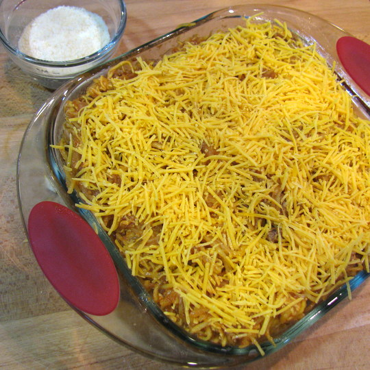 Beefy Spaghetti Squash Bake