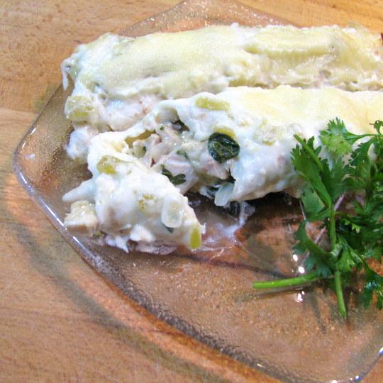 Creamy Chicken & Spinach Enchiladas