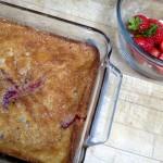Strawberry Cobbler Cake