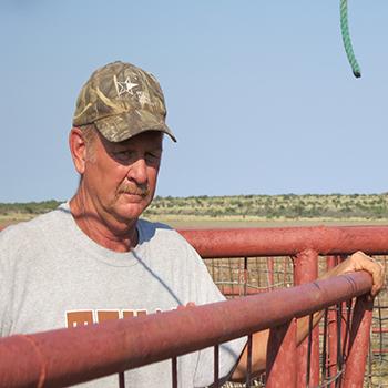 Texas Angora goat farmer Gary Speck