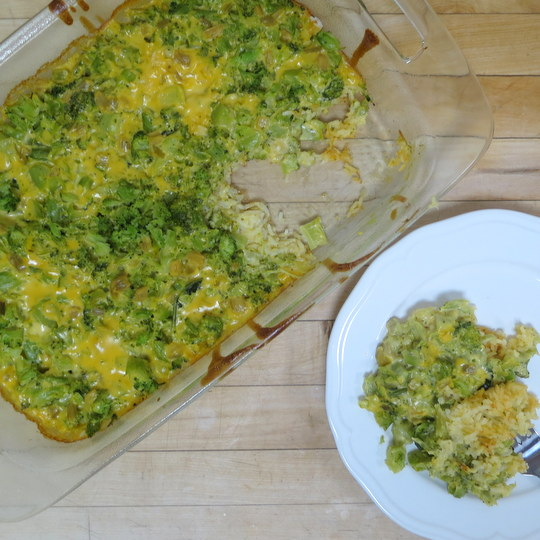 Broccoli Cheese Rice Casserole - Texas Farm Bureau - Table Top
