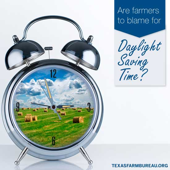 Are farmers to blame for Daylight Saving Time?