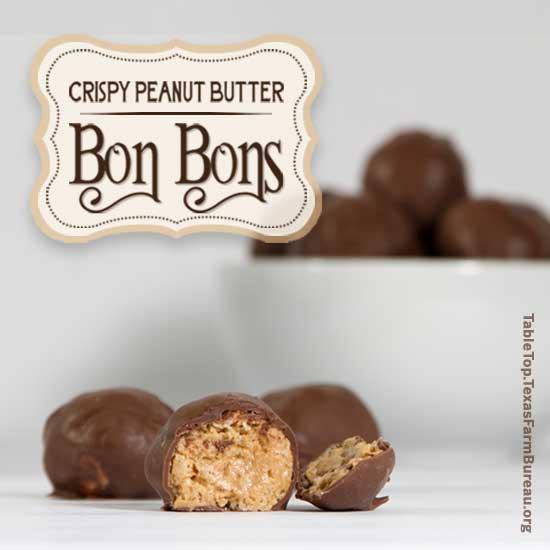Crispy Peanut Butter Bon Bons