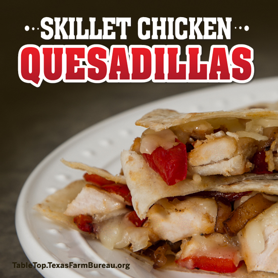 Skillet Chicken Quesadillas