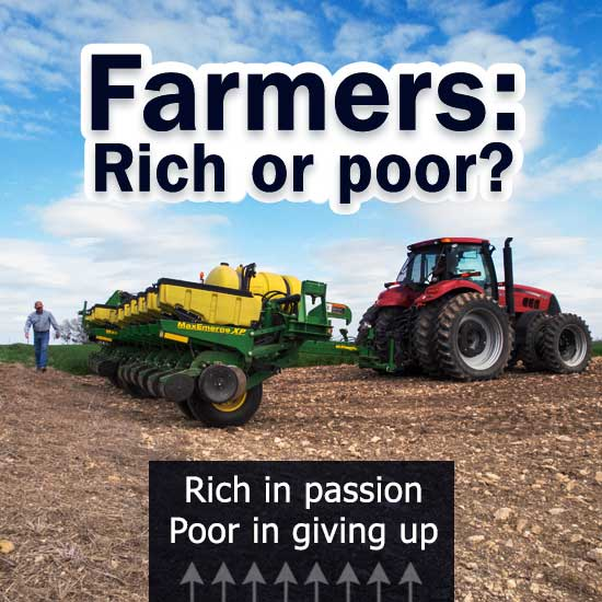 Farmers rich or poor