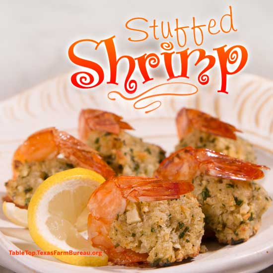 Texas Farm-Raised Stuffed Shrimp