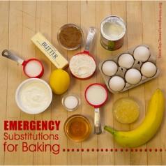 Emergency Baking Substitutes