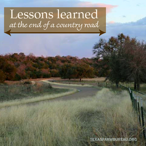 Lessons learned on a country road
