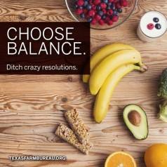 Choosing balance. Ditching crazy resolutions.