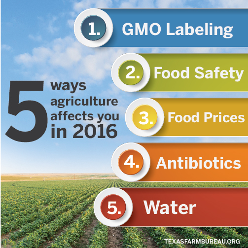5 ways agriculture affects you in 2016