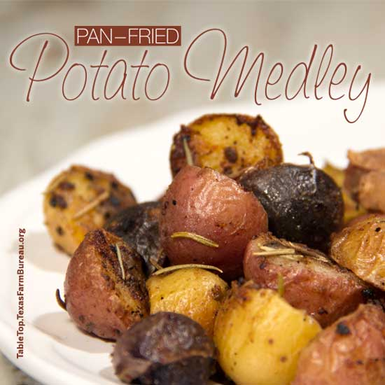 pan-fried potato medley