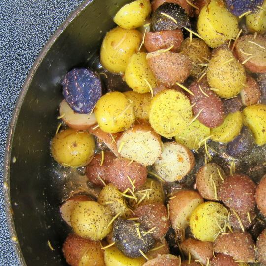pan-fried potato medley
