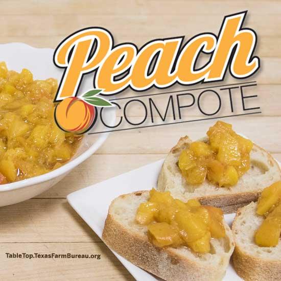 Texas Peach Compote Recipe