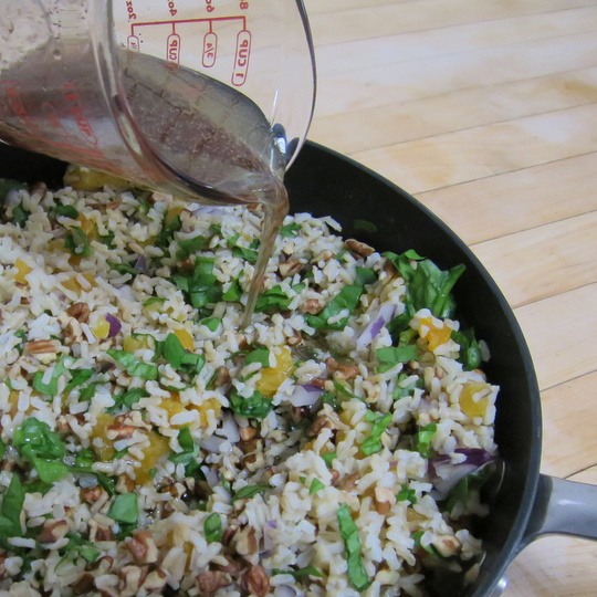 warm rice salad