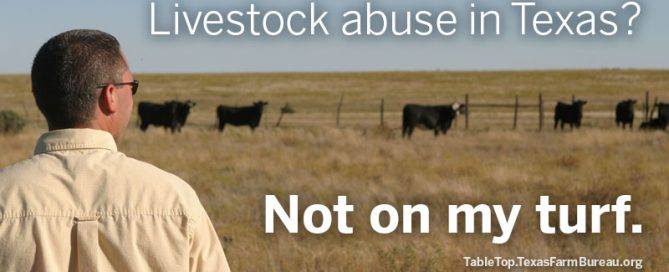 Livestock abuse in Texas? Not on my turf. Texas Farm Bureau.