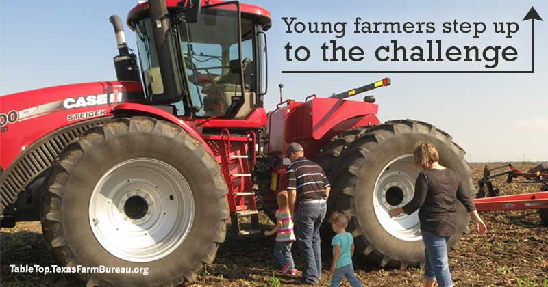 young farmers step up to the challenge