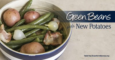 green beans with new potatoes