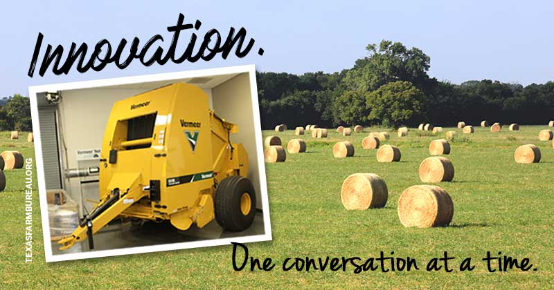 Innovation. Vermeer baler.