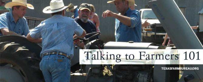 Talking to farmers 101