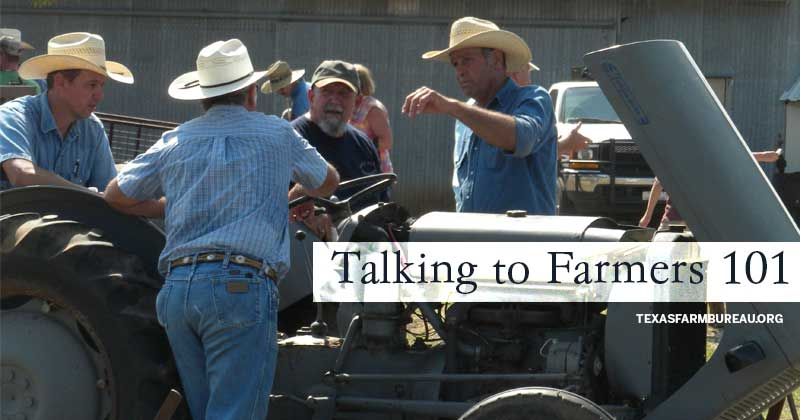 Talking to farmers 101