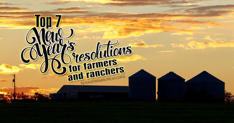 New Year's resolutions for farmers and ranchers