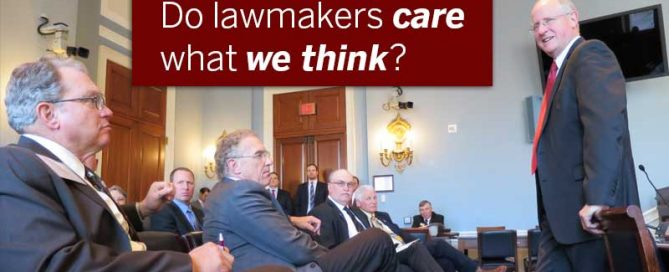 Do lawmakers care what we think?