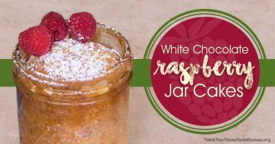 White Chocolate Raspberry Jar Cakes