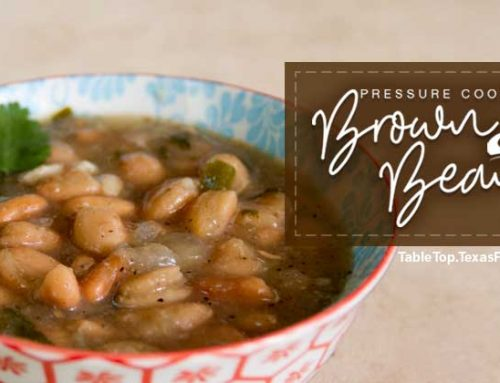 Pressure Cooker Brown Beans