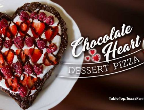 Chocolate Heart Dessert Pizza